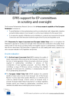 EPRS scrutiny