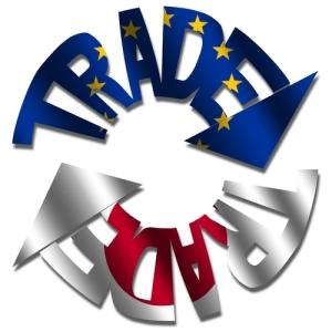 EU and Japanese flags