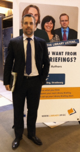 EP V-P Alexander Alvaro (DE/ALDE) at the Library stand