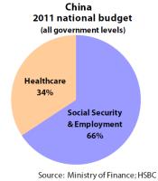 China national social protection budget 2011