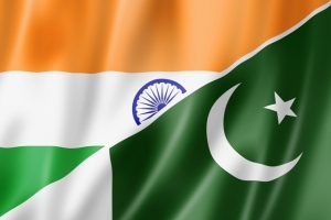 Mixed India and Pakistan flag