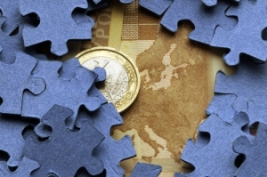 Euro coin and puzzles