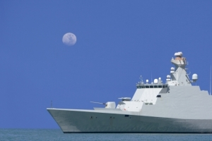 Fregate on Sea patrole
