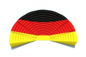 d concept german parliament with flag colors