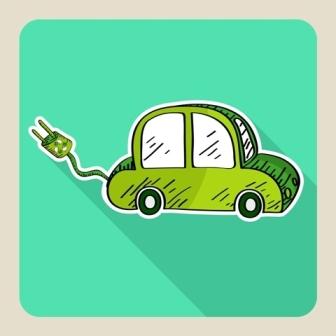 green eco friendly car.