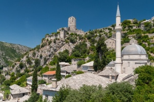 View of the historic town of Pocitelj, Bosnia and Herzegovina