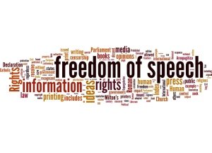 Freedom of speech word cloud