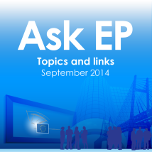 Topics and links – September 2014