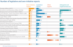 Number of legislative and own-initiative reports