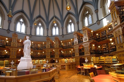 Canadian Parliament Library interoir