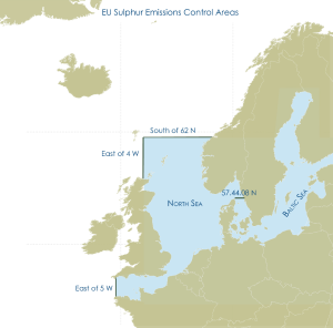 Cutting sulphur emissions from ships