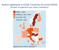 Asylum applicants in EU28: Countries of arrival (2014)