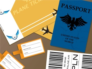 Passports and flight tickets