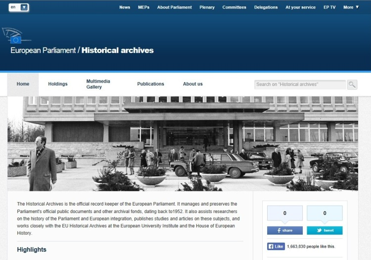 Historical Archives on Europarl