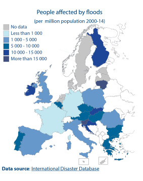 People affected by floods (per million population 2000-14)