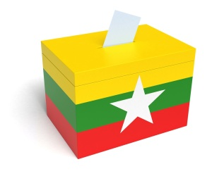 Myanmar Flag Ballot Box
