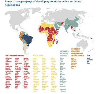 Annex-main groupings of developing countries active in climate negotiations