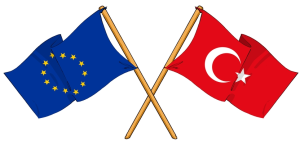 EU and Turkey flag