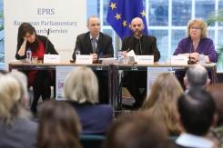 COLLET, Elizabeth - Director of the Migration Policy Institute and Senior Adviser to MPI's Transatlantic Council on Migration; DUMONT, Jean-Christophe - Head of International Migration at the OECD; BAKOWSKI, Piotr - EPRS; LAMBERT, Jean (Greens/EFA, UK)