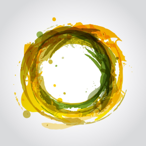 Abstract painting of loop
