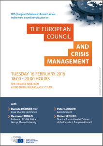 The European Council and Crisis Management