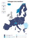 Map of Schengen