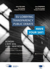 EU Lobbying Transparency Public Debate – HAVE YOUR SAY