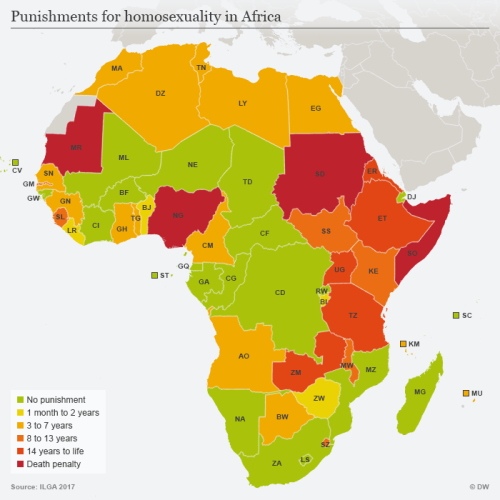 Punishments for homosexuality in Africa
