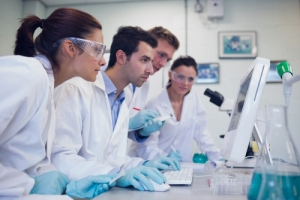 Researchers in a laboratory