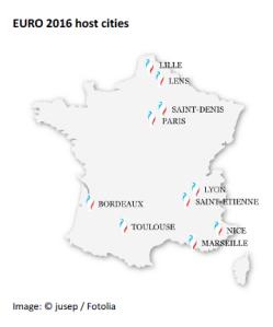 EURO 2016 host cities