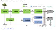 Figure 2 – Shea butter export value chain