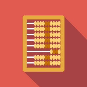 Abacus calculation flat icon