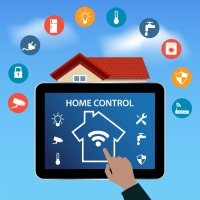 Modern digital Tablet PC with Smart House Apps