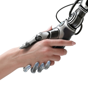 Robot and human hand-shake