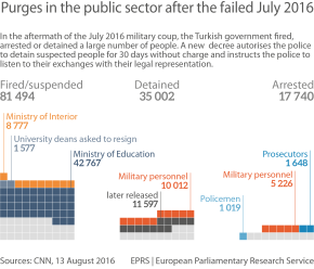 Purges in the public sector after the failed July 2016 coup