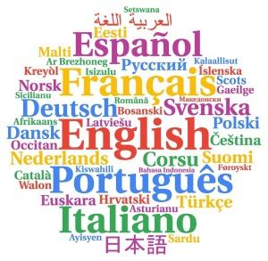 Multilingual languages word cloud concept