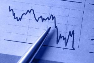 Financial chart graph