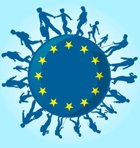 Globe with EU stars