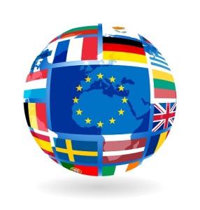 EU stars ona globe
