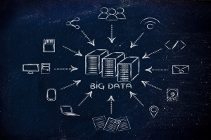 concept of big data processing and storage: users, devices and file transfers