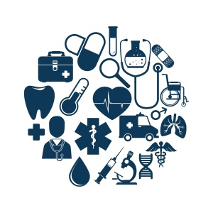set medical isolated icons