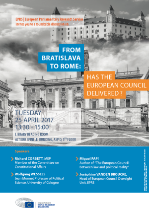 From Bratislava to Rome: Has the European Council Delivered?