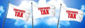 corporate tax, 3D rendering, triple flags