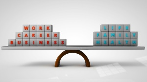 work life balance concept 3d render