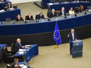 Jean-Claude Juncker delivers the 2017 State of the Union address in plenary