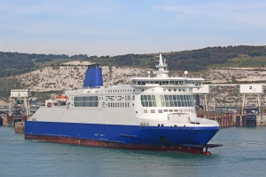 Ferry leaving Dover Harbour