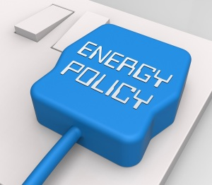 Energy Policy Plug In Socket Shows Utility Guide 3d Rendering