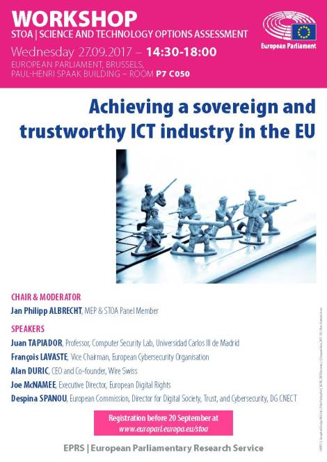 Achieving a sovereign and trustworthy ICT industry in theEU