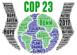 COP 23 in Bonn, Germany word cloud