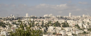 Modern Jerusalem panorama photo, contemporary architecture of the Middle East cities